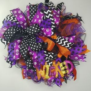 Wicked Halloween Handmade Deco Mesh Wreath